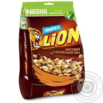 Готовий сухий сніданок Lion Карамель і шоколад 250г - купити, ціни на Ашан - фото 1
