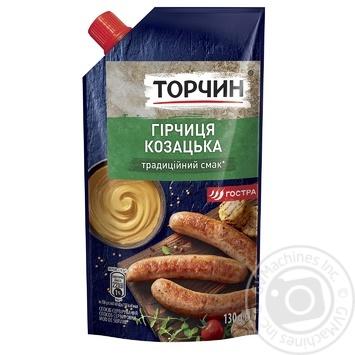 Горчица Торчин Казацкая 130г - купить, цены на Novus - фото 1