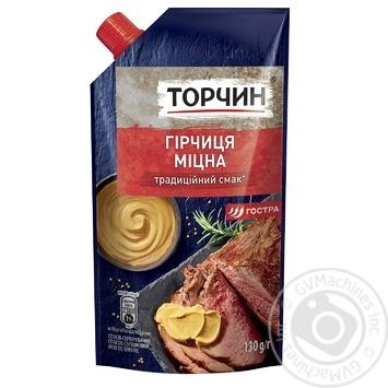 Горчица Торчин Крепкая 130г - купить, цены на Novus - фото 1