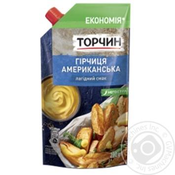 Горчица ТОРЧИН® Американская мягкий вкус 230г - купить, цены на МегаМаркет - фото 1
