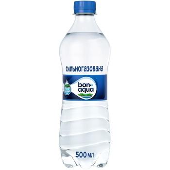Вода Bonaqua природная питьевая сильногазированная 500мл