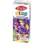 Нектар Rich Kids банан клубника яблоко с мякотью 0,2л