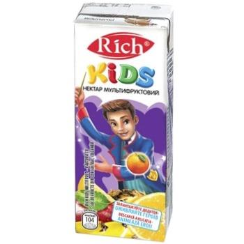 Нектар Rich Kids мультифрукт неосветленный купажированный 0,2л