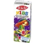 Нектар Rich Kids яблоко виноград черноплодная рябина малина 0,2л