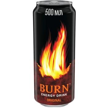 Напій Burn Класичний енергетичний безалкогольний сильногазований 500мл жерстяна банка - купити, ціни на Фуршет - фото 1
