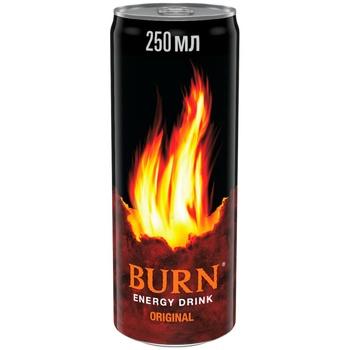 Напиток Burn Классический энергетический безалкогольный сильногазированный 250мл жестяная банка - купить, цены на Фуршет - фото 1