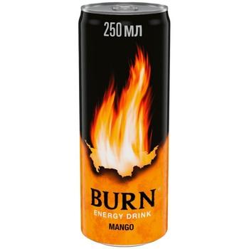 Напій енергетичний Burn Манго безалкогольний сильногазований 0,25л - купити, ціни на Novus - фото 1
