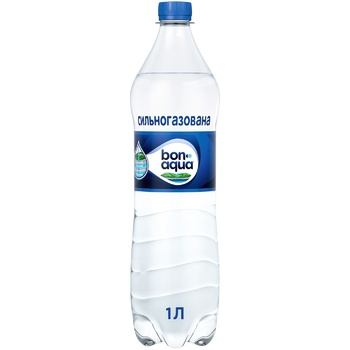 Bonaqua Natural Drinking Strongly Carbonated Water 1l - buy, prices for CityMarket - photo 1