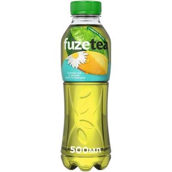 Напій Fuzetea Чай зелений зі смаком манго та ромашки безалкогольний негазований 500мл - купити, ціни на Восторг - фото 1