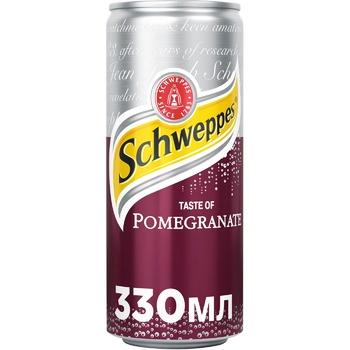 Напиток Schweppes Гранат безалкогольный сильногазированный 330мл