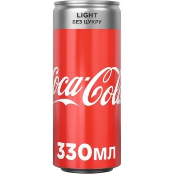 Coca-Cola Light Drink Non-alcoholic Strong Carbonated Low-Calorie Can 330ml