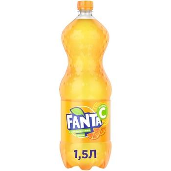 Напій Fanta Апельсин безалкогольний сильногазований 1,5л - купити, ціни на Фуршет - фото 1