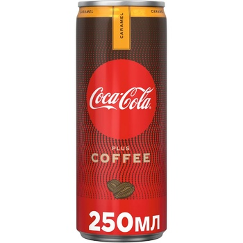 Coca-Cola Caramel Drink With Coffee Extract And Caramel Flavor Non-Alcoholic Strong Carbonated Can 250ml - buy, prices for MegaMarket - image 1