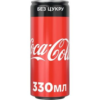 Coca-Cola Zero Strongly Carbonated Drink 0,33l - buy, prices for Novus - photo 1