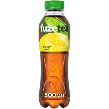 Напій Fuzetea Чай чорний зі смаком лимона безалкогольний негазований 500мл