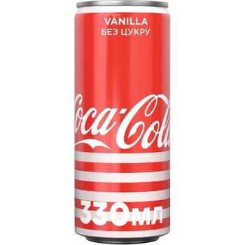 Напиток газированный Coca-Cola Zero Vanilla 0,33л