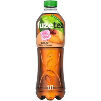 Напій Fuzetea Чай чорний зі смаком персика та троянди безалкогольний негазований 1л - купити, ціни на Восторг - фото 1