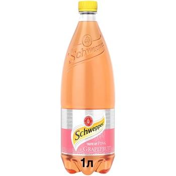 Напиток Schweppes Pink Grapefruit безалкогольный сокосодержащий сильногазированный 1л