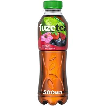 Fuzetea Black Tea With Berry and Hibiscus Taste Non-alcoholic Non-Carbonated Drink 500ml - buy, prices for CityMarket - photo 1