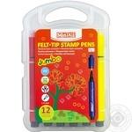 Фломастеры-штампы Jumbo 12 цветов MX15227
