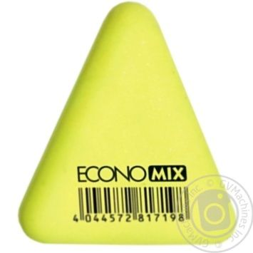 Гумка для олівця ТРИКУТНИК арт. E81719 х36 - купити, ціни на МегаМаркет - фото 1