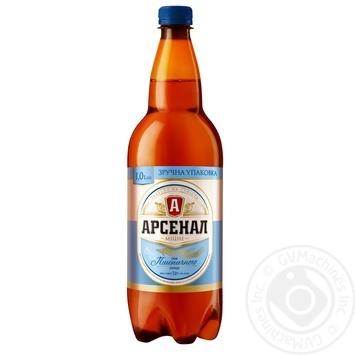 Пиво Арсенал Крепкое вкус пшеничного солода светлое 7% 1л - купить, цены на Фуршет - фото 1