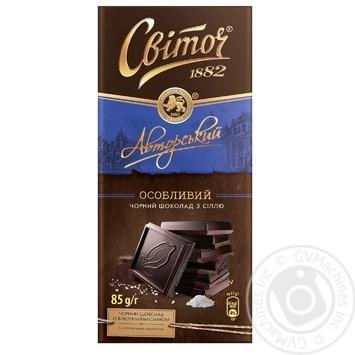 Шоколад СВІТОЧ® Авторский Особенный черный 85г - купить, цены на Novus - фото 1