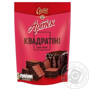 Вафли СВІТОЧ® Артек Квадратини вкус Шоколадного брауни 133г