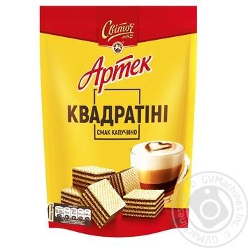 Вафли Свиточ Артек Квадратини со вкусом капучино 133г - купить, цены на Novus - фото 1