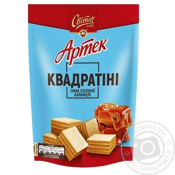 Вафли СВІТОЧ® Артек Квадратини вкус Соленой карамели 133г