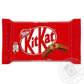 Батончик шоколадний Nestle KitKat 4-fingers 41,5г - купити, ціни на МегаМаркет - фото 1