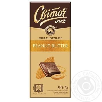 Шоколад СВІТОЧ® Арахисовая паста молочный с начинкой 90г