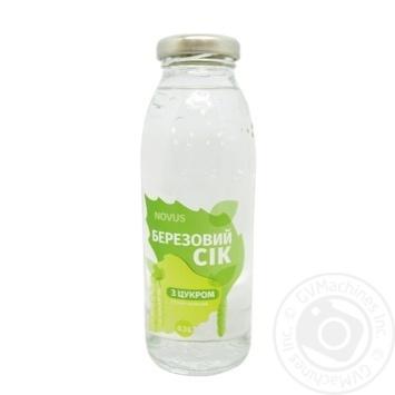 Juice Novus birch sap with sugar 300ml - buy, prices for Novus - image 1
