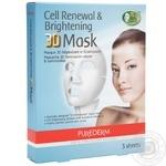Маска для обличчя Purederm для обличчя освітлююча 3D 3шт*25г