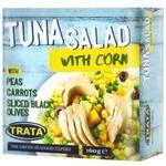 Салат Trata з кукурудзою і тунцем 160г
