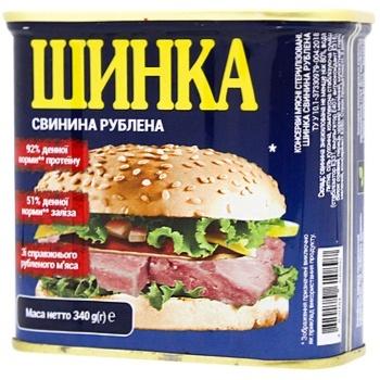 Шинка Power Banka свиняча рублена 340г - купити, ціни на CітіМаркет - фото 1