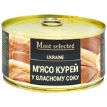 Meat Selected canned in own juice chicken meat 325g