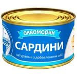 Сардина Аквамарин натуральная с добавлением масла 230г