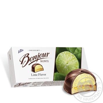 Десерт Konti Bonjour Лайм 232г - купить, цены на Пчёлка - фото 3