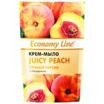 Economy line Cream-soap Juicy peach with glycerin 460g
