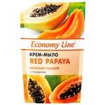 Крем-мыло Economy Line Красная папайя с глицерином 460г