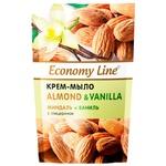 Economy line Almonds and vanilla Cream-soap with glycerin 460g