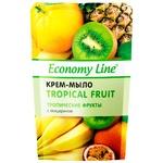 Крем-мило Economy Line Тропічні фрукти з гліцерином 460г