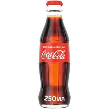 Напиток Coca-Cola безалкогольный сильногазированный 250мл стекло