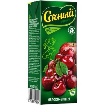 Нектар Сочный фрукт Ябл/вишня т/п 200мл - купить, цены на СитиМаркет - фото 1