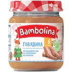 Puree Bambolina beef without starch for children from 6 months 100g glass jar