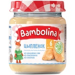 Puree Bambolina chicken without starch for children from 6 months 100g glass jar