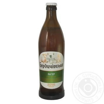 Пиво Бердичівське Лагер живе світле непастеризоване 3.8%об. 500мл - купити, ціни на Novus - фото 1