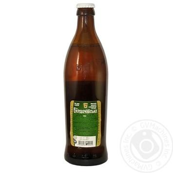 Пиво Бердичівське Хмільне живе світле непастеризоване 3.7%об. 500мл - купити, ціни на Novus - фото 2