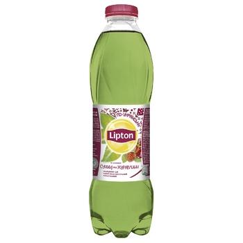 Чай зеленый холодный Lipton Земляника и клюква 1л - купить, цены на Ашан - фото 1